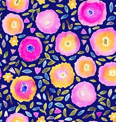 Hand paint watercolor floral seamless pattern vector image