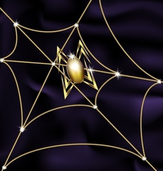 jewel spider and web vector image vector image