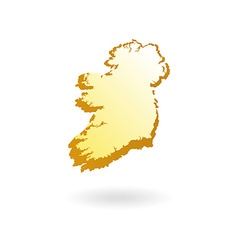 Map Contour of Ireland vector image vector image