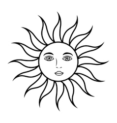 sun face astrology vector image