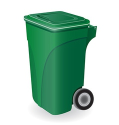 trash can 04 vector image vector image