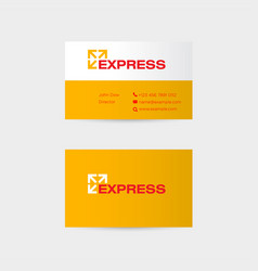 delivery logo and branding identity vector image