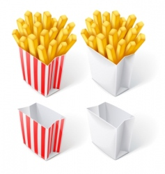 Fried chips in paper bag vector