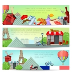 Paris Banner Set vector image