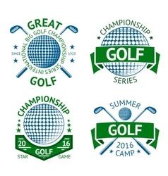 set of Golf badges logo templates etc vector image