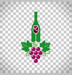 wine logo transparent background vector image