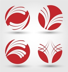 Abstract business icon set vector image vector image