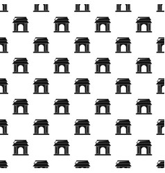 asian gate pattern seamless vector image