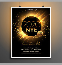 Beautiful new year eve party flyer template design vector