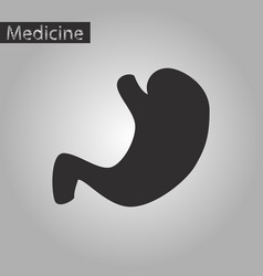 black and white style icon of stomach vector image