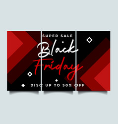 black friday instagram story background vector image