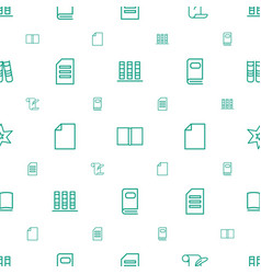 Book icons pattern seamless white background vector