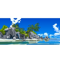 cartoon beautiful tropical island vector image