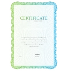 Certificate Modern Template diplomas currency vector