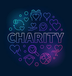 Charity round bright - colored vector