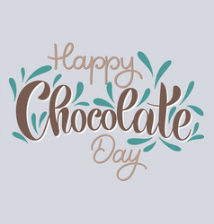 chocolate world day vector image