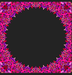 circular floral frame ornament - background design vector image