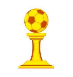 colorful cartoon soccer ball winner award vector image
