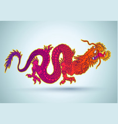 colorful chinese dragon vector image