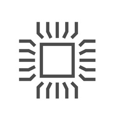computer chip icon vector image