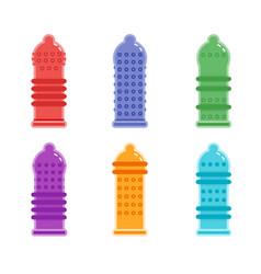 condom textured types of condom vector image