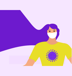 coronavirus bacteria icon flat style 2019-ncov vector image