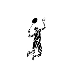 Creative silhouette of professional Badminton vector