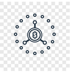 Crowdfunding concept linear icon isolated on vector