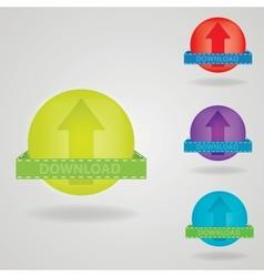 Download button web design element vector image vector image