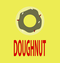 flat icon donut logo vector image