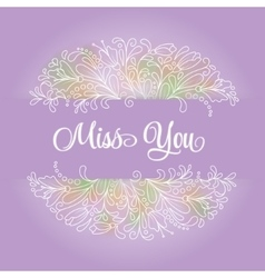 flower wreath in a watercolor style vector image