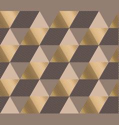 Formal polygon striped seamless pattern vector