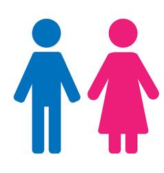 Gender symbol set male female girl boy woman man vector