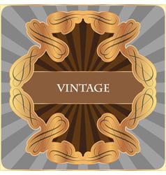 Gold vintage label vector