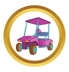 Golf car icon vector
