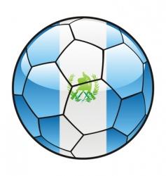 guatemala flag on soccer ball vector image