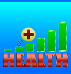 health level green rectangles vector image