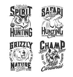 hunting shirt prints safari hunter and sport club vector image