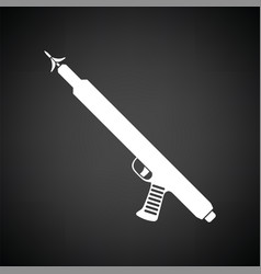 Icon of fishing speargun vector