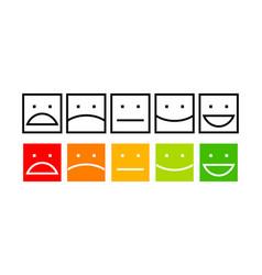 Iconic satisfaction level vector