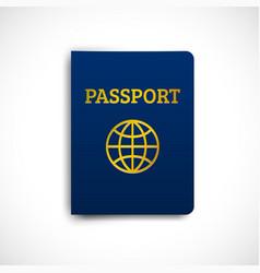 international passport blue cover vector image