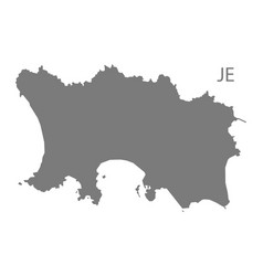 Jersey map grey vector