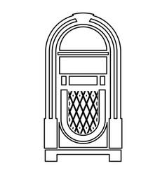 Jukebox juke box automated retro music concept vector