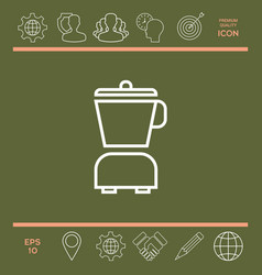 kitchen blender linear icon vector image