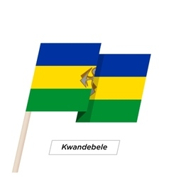 Kwandebele Ribbon Waving Flag Isolated on White vector image