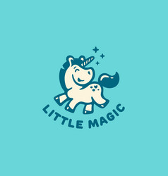 Little unicorn logo vector