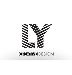 ly l y lines letter design with creative elegant vector image