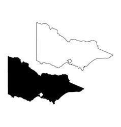 Map victoria australia black and outline maps vector