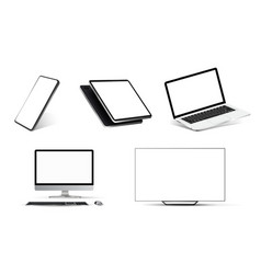 mockups collection realistic devices vector image