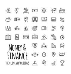 money business finance startup in outline vector image